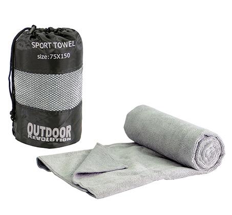 מגבת מיקרופייבר XL + סקוץ קלה ונעימה סופחת מים ומתייבשת במהירות