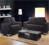 מערכת ישיבה הכוללת ספה תלת ודו מושבית בריפוד בד מיקרופייבר קל לניקיון דגם סהרה VITORIO DIVANI - משלוח חינם