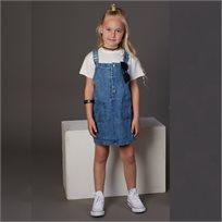 סרבל Oro לילדות (מידות 2-7 שנים) ג'ינס