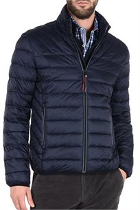 מעיל איכותי דגם N0YGNR176 לגברים בצבע כחול כהה