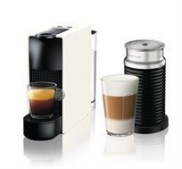 מכונת קפה Nespresso Essenza Mini בצבע לבן דגם C30 כולל מקציף חלב ארוצ'ינו