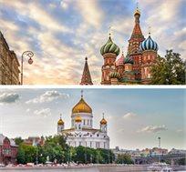 טיול מאורגן ל-7 ימים במוסקבה וסנט פטרסבורג החל מכ-$1249*