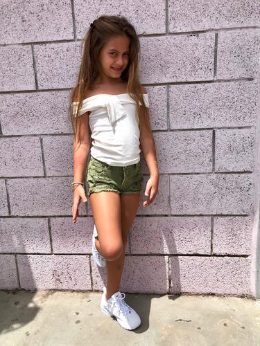 Oro/ שורט ג'ינס (16-2 שנים) - זית