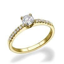 """טבעת אירוסין זהב צהוב 0.51 קראט """"אנדריאה"""" F/Si1"""