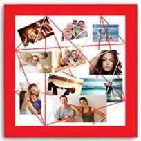 המתנה הכי שווה! לוח מודעות ותמונות מרובע במגוון צבעים לבחירה