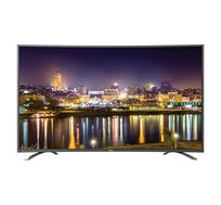 """טלוויזיה """"55 Haier Smart TV 4K מסך קעור +התקנה + מתקן קיר מתנה"""