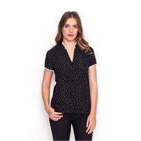 חולצת סופיה שחורה עם צווארון