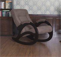 כורסא מתנדנדת מעוצבת ומרופדת עם רגלי עץ מלא BRADEX