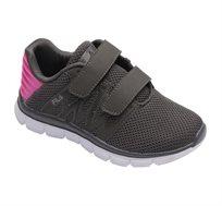 נעלי ספורט לילדים FILA דגם Picaso בצבעי אפור כהה וורוד פוקסיה