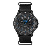 שעון יד ספורטיבי לגבר TIMEX דגם TI-4B03, תאורת מסך INDIGLO בלחיצת כפתור עשוי פלדת אל חלד ועמיד במים