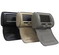 זוג משענות ראש עם מסכים מובנים משולבים DVD ומשחקים + זוג ג'ויסטיקים לרכב כולל התקנה חינם