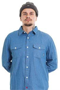 חולצת ג'ינס מכופתרת SUPPLY בצבע כחול בהיר