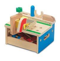 סט ארגז וספסל כלים מעץ