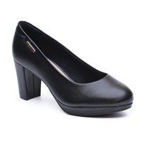 Modare - נעלי עקב קלאסיות שחורות לנשים בתוספת פלטפורמה קדמית