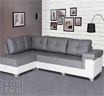 מערכת ישיבה פינתית בריפוד דמוי עור בעל מגע נעים וקל לניקיון דגם אטלינה VITORIO DIVANI