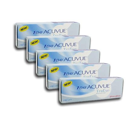 מארז של 4 חבילות עדשות מגע יומיות 1Day Acuvue TRUE EYE רק ₪135 לחבילה! ל4 חודשים - משלוח חינם - תמונה 2