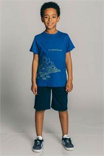 חולצת טריקו קצרה Kiwi לילדים בצבע כחול נייבי
