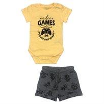Minene חליפת בגד גוף (6-24 חודשים) - צהוב