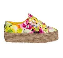 נעלי סניקרס לנשים SUPERGA דגם 2790 - צהוב ורוד