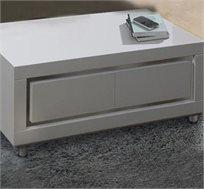 שולחן לסלון עשוי MDF דגם SHARONA בצבע לבן בגימור אפוקסי LEONARDO
