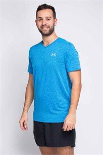 חולצת ספורט לגבר Under Armour בטכנולוגיית HEATGEAR בצבע תכלת