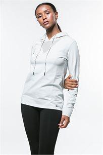 קפוצ'ון ספורט לנשים בצבע אפור בהיר
