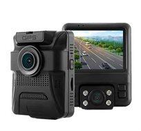 מצלמת דרך עם 2 עדשות 1080P HD GS65H צילום חוץ ופנים בו זמנית כולל GPS