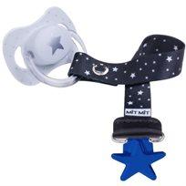 Baby Mitmit תופסן מעוצב למוצץ Galaxy -כחול