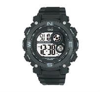 שעון יד דיגיטלי לגבר בצבע שחור