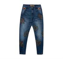 ג'ינס בויפרנד לנשים דגם MAUI - כחול