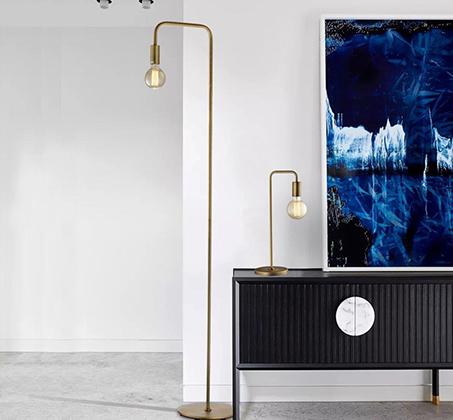 מנורת עמידה מעוצבת רוביז ביתילי בסגנון תעשייתי, מתכתי ובגימור נחושת - משלוח חינם - תמונה 3