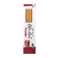 12 עפרונות רוטרינג עם מחק