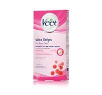 מארז 3 יחידות רצועות שעווה ויט מוכנות לשימוש Veet Wax strips