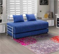 ספת ילדים ונוער על קל איכותית הנפתחת למיטה זוגית נעימה למגע כולל ארגז מצעים LEONARDO