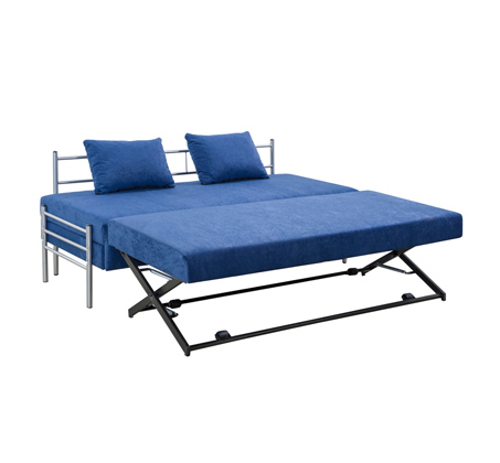 ספת ילדים ונוער על קל איכותית הנפתחת למיטה זוגית נעימה למגע כולל ארגז מצעים LEONARDO   - תמונה 6