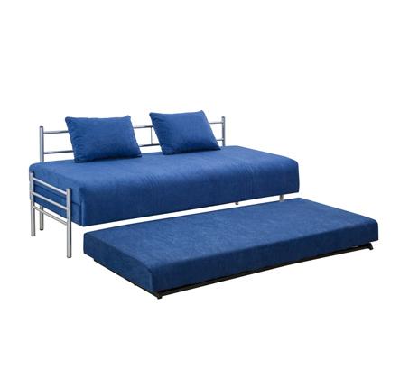 ספת ילדים ונוער על קל איכותית הנפתחת למיטה זוגית נעימה למגע כולל ארגז מצעים LEONARDO   - תמונה 4