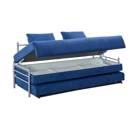 ספת ילדים ונוער על קל איכותית הנפתחת למיטה זוגית נעימה למגע כולל ארגז מצעים LEONARDO   - תמונה 5
