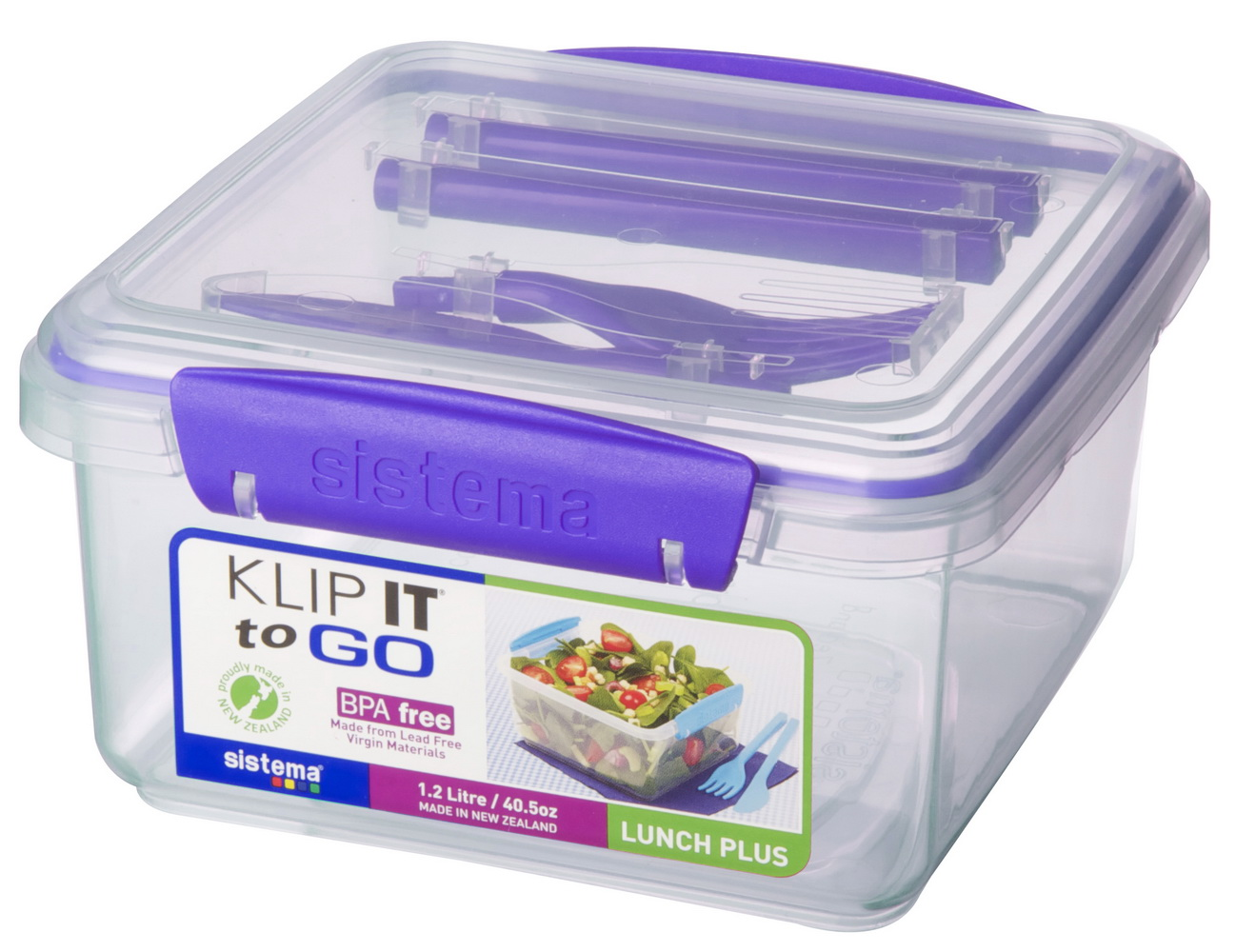 אחסונית לארוחה 1.2 ליטר כולל מזלג וסכין TO GO