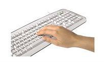 מקלדת בסיסית בצבע לבן 108 כפתורים, מבית HAMA דגם 57208
