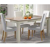 פינת אוכל נפתחת בעיצוב כפרי כוללת 6 כיסאות בריפוד דמוי עור דגם מונט ביתילי