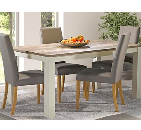 פינת אוכל נפתחת בעיצוב כפרי כוללת 6 כיסאות בריפוד דמוי עור דגם מונט ביתילי - תמונה 2