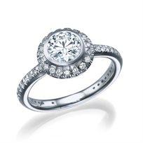 """טבעת יהלומים זהב לבן """"אלכסנדרה"""" 1.82 קראט"""