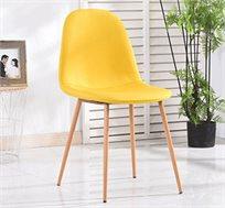כסא לפינת אוכל נוח מרופד ומעוצב במגוון צבעים לבחירה