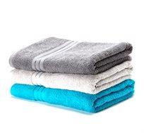 מארז שלוש מגבות גוף 100% כותנה DONNA CASA בשלושה צבעים  - משלוח חינם