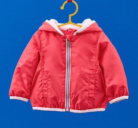 מעיל OVS לתינוקות עם כובע - ורוד