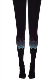 גרביון גאומטרי Zohara בצבע שחור