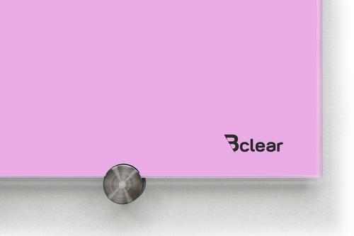 לוח מחיק זכוכית מגנטי צבע סגול פסטל מסדרת Bclear COLOR - תמונה 2