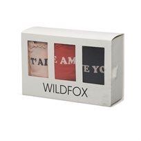 WILDFOX// love me 3 times מארז תחתונים