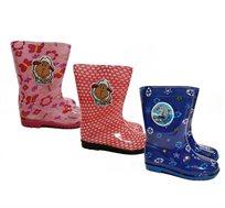 מגפי גומי לילדים להגנה מפני הגשם בדוגמת כבשה או דולפין במידות 23-30