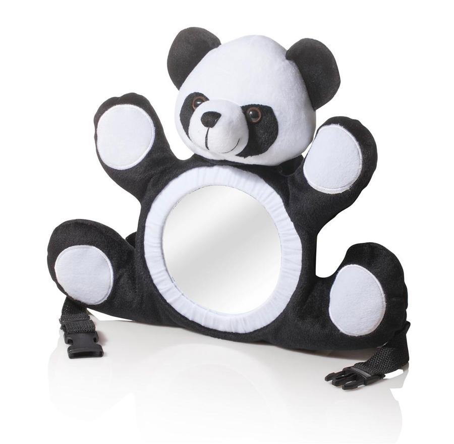 בנפט תנו מבט! בובת דובי יפהפיה עם מראה, המוצבת מול התינוק בלול או ברכב XB-78